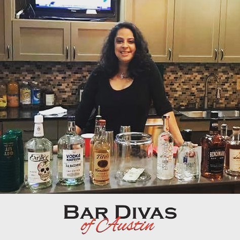 Bar Diva Diana at a beautiful holiday party